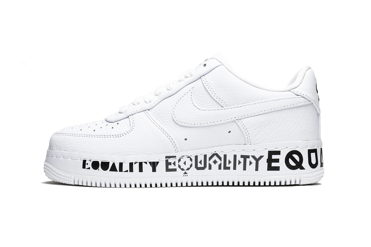 Nike Air Force 1 Low CMFT Equality AQ2118-100 White Black Release