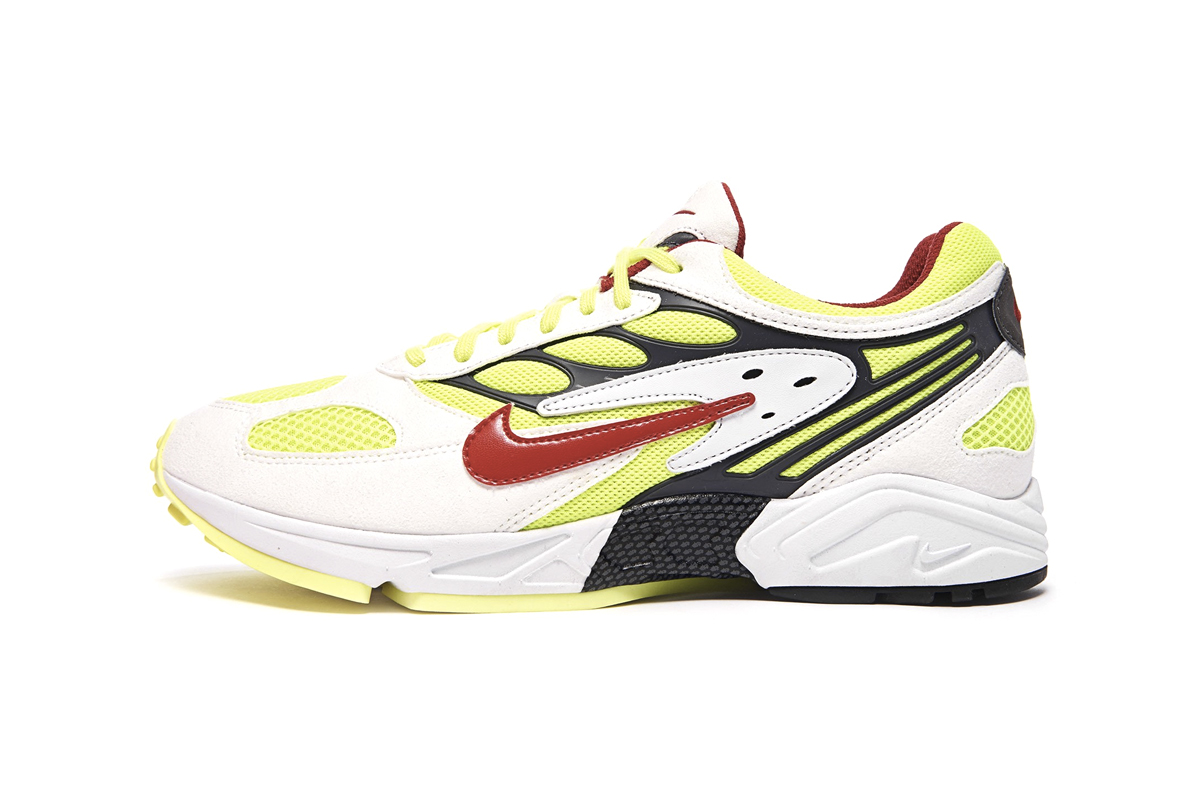 Nike Air Ghost Racer White Atom Red Neon Yellow Dark Grey AT5410-100 release Info Date
