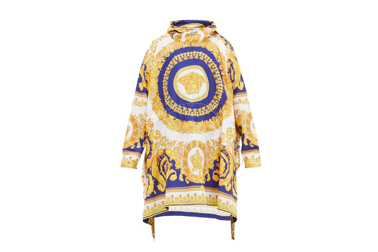 Versace Baroque-Print Technical Poncho