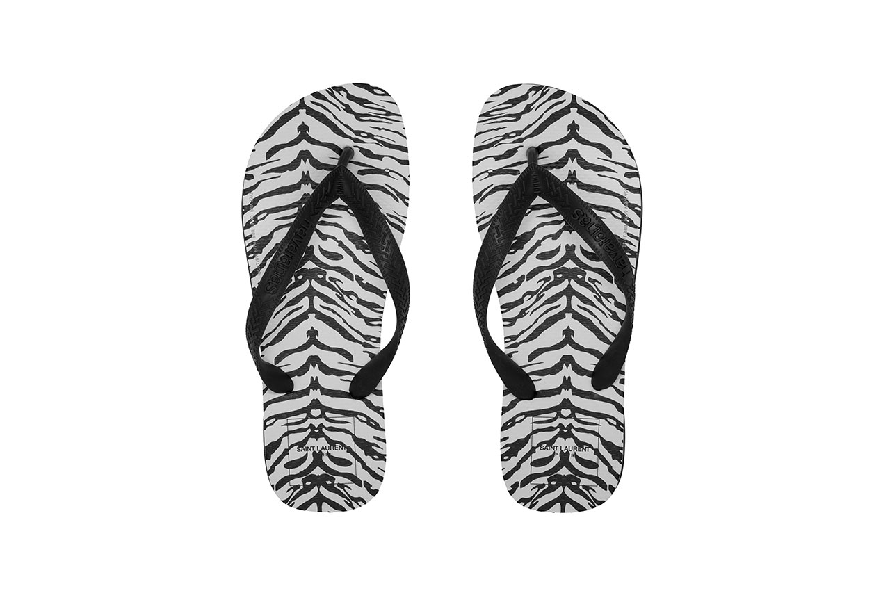 Saint Laurent x Havianas Zebra Flip-Flop Collaboration release date info buy 65 usd price july 31 2019