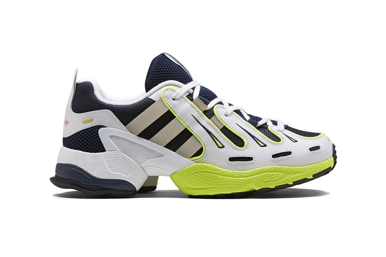 adidas EQT Gazelle Reissue Retro Sneaker Release EE4773 EE4771 EE4772 colorways SOLAR YELLOW / SILVER METALLIC / CORE BLACK GREY TWO / CORE BLACK / CLOUD WHITE COLLEGIATE NAVY / SOLAR YELLOW july 20 2019 date info originals