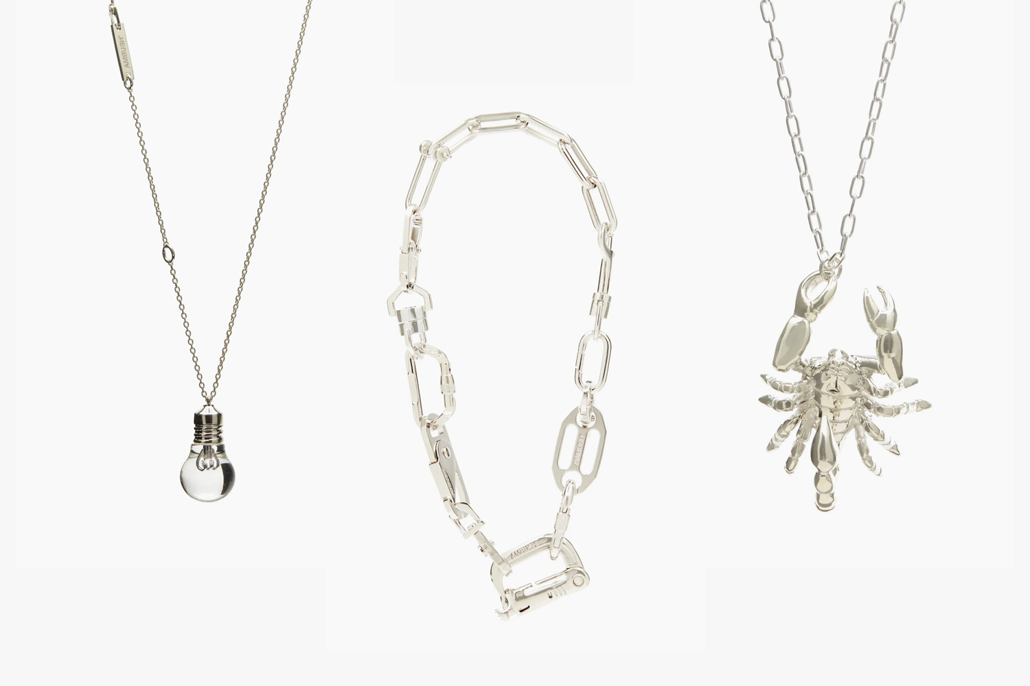 AMBUSH Lightbulb Silver Necklace