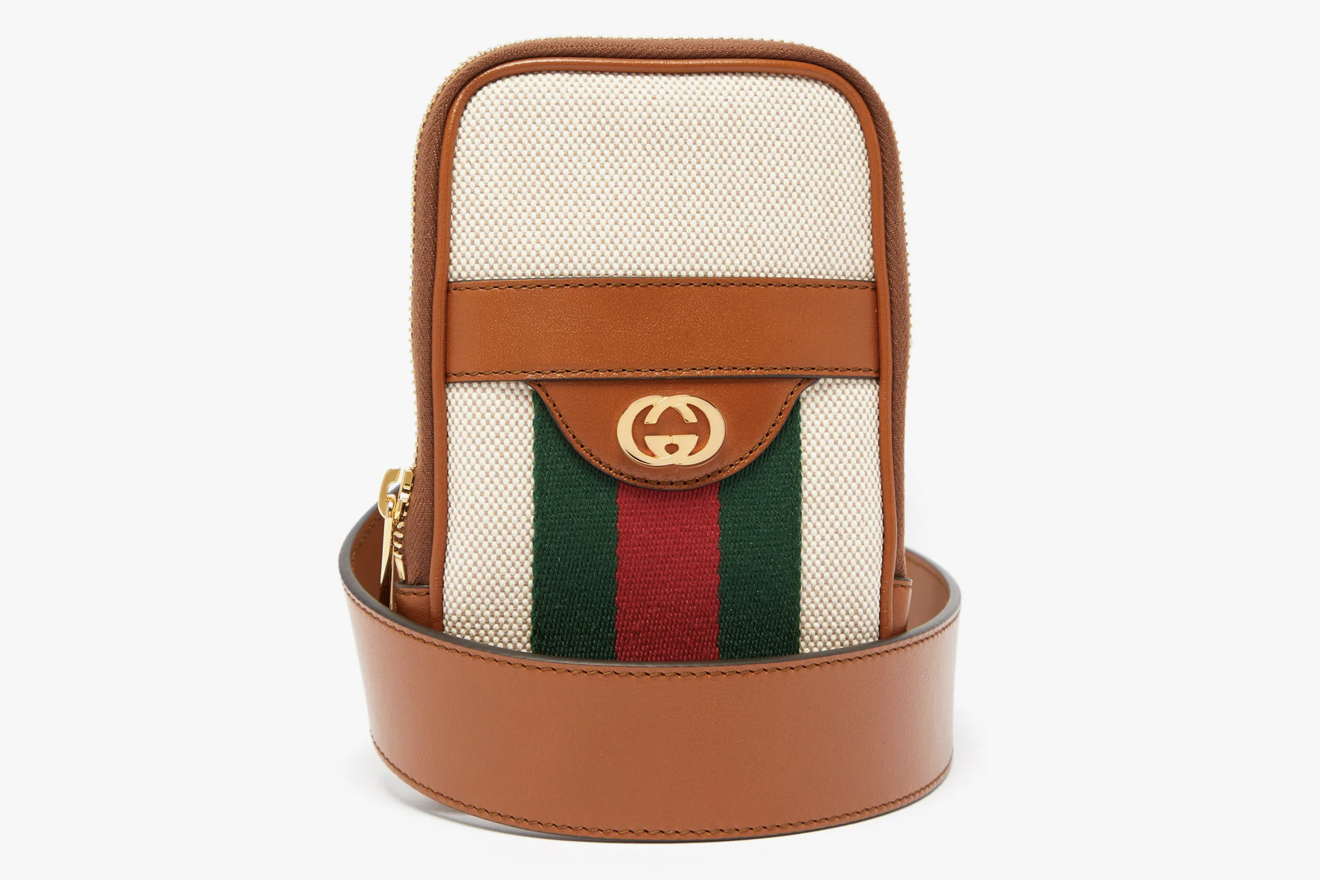 new style 5d216 7c1a9 Gucci GG Vintage-Canvas Belted iPhone® Case