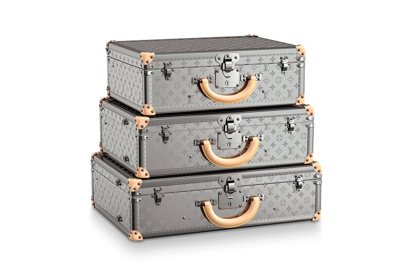 Louis Vuitton Bisten Monogram Titane Collection 50 55 60 suitcase travel luggage trunk luxury designer fashion