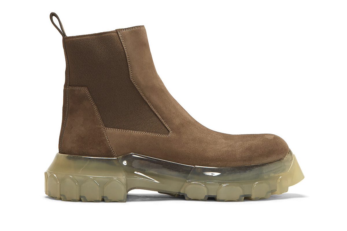 Rick Owens Bozo Tractor Beetle Boots Release Beige Brown Info Fall Winter 2019