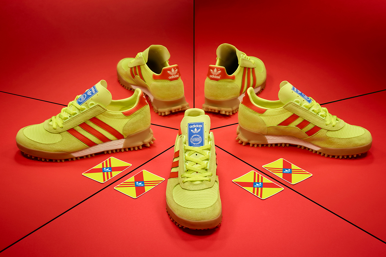 adidas originals size marathon tr yellow red release information closer look uk sneakers shoes buy cop purchase drop how to details