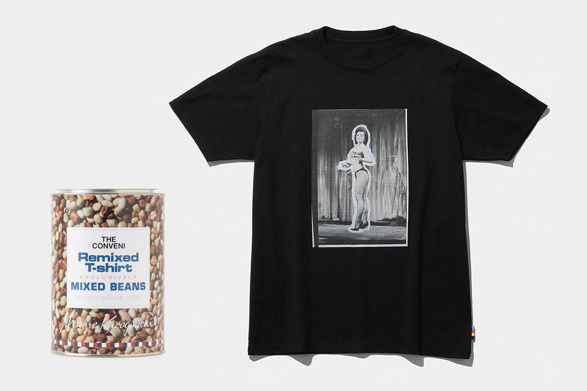 THE CONVENI x Mame Kurogouchi T-shirts and Cotton Swabs