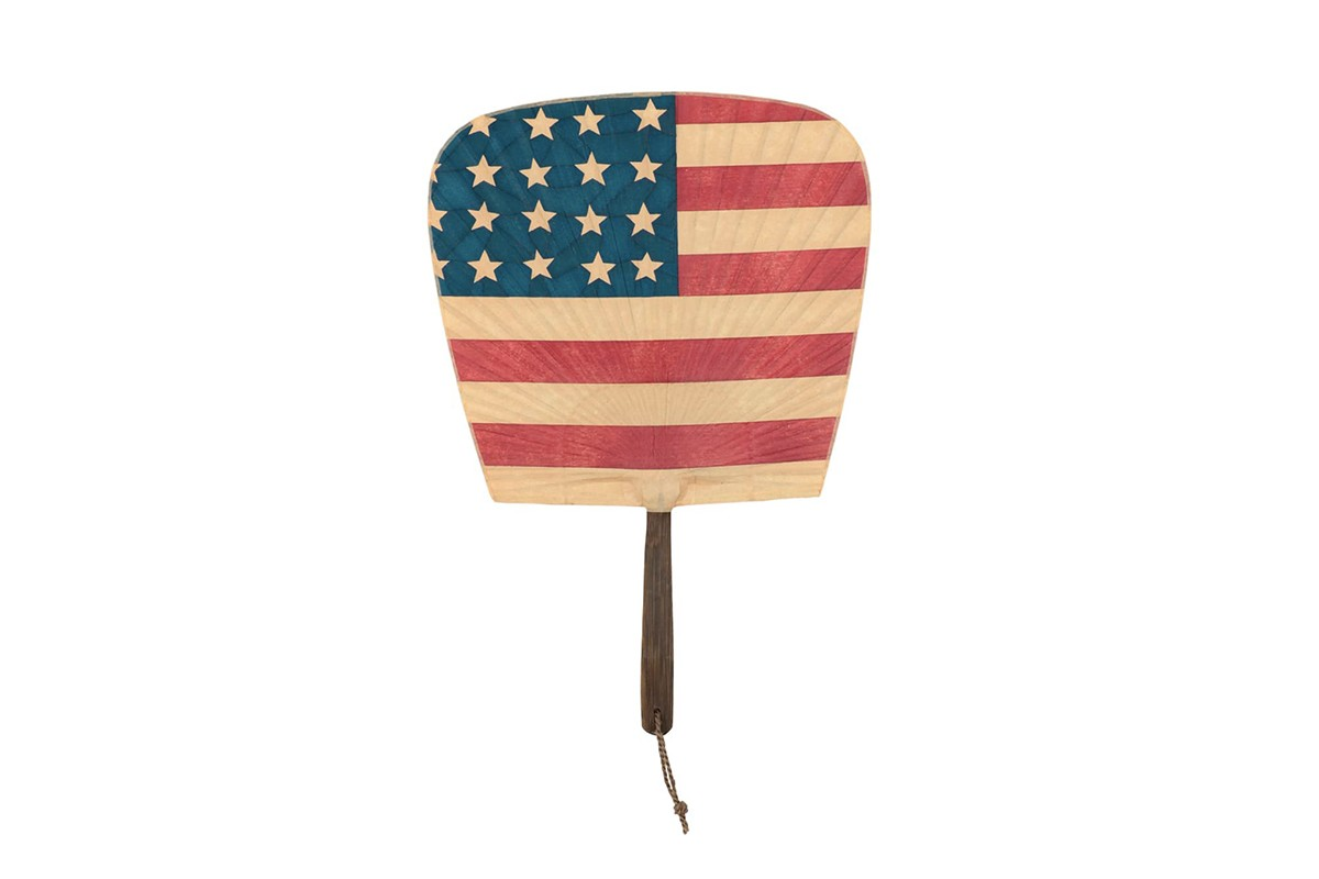 "visvim Fukuoka Limited Edition ""Stars and Stripes"" Uchiwa Hand Fans accessories united states usa red white blue united states of america japan"