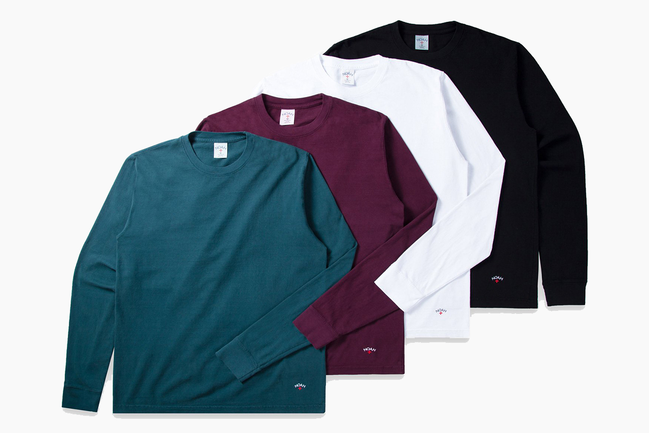 NOAH Recycled Cotton Long-Sleeve Tee