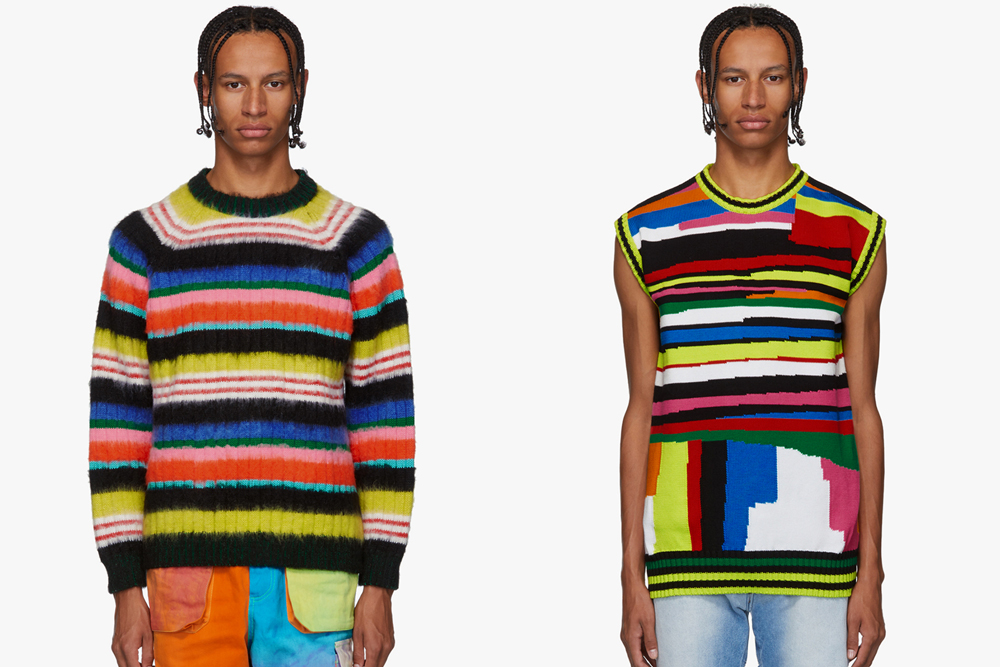 AGR SSENSE Exclusive Multicolor Striped Sweater