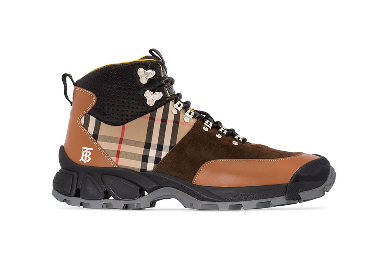 Burberry Brown Tor Vintage Check Hiking Boots Riccardo Tisci Fall Winter 2019 FW19 Footwear Classic British Design Military Style Browns Cop Release Information
