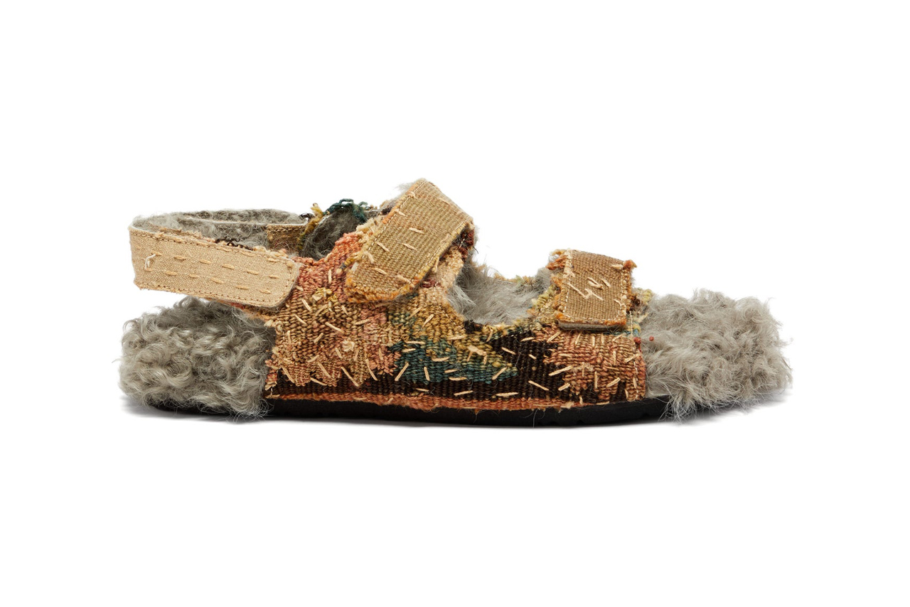 by walid 17th century shearling lined sandals chinese textiles release 2019
