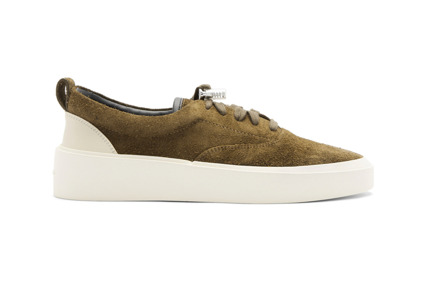 Fear of God SSENSE Exclusive Khaki Suede 101 Lace-Up Sneaker Release White Jerry Lorenzo Info