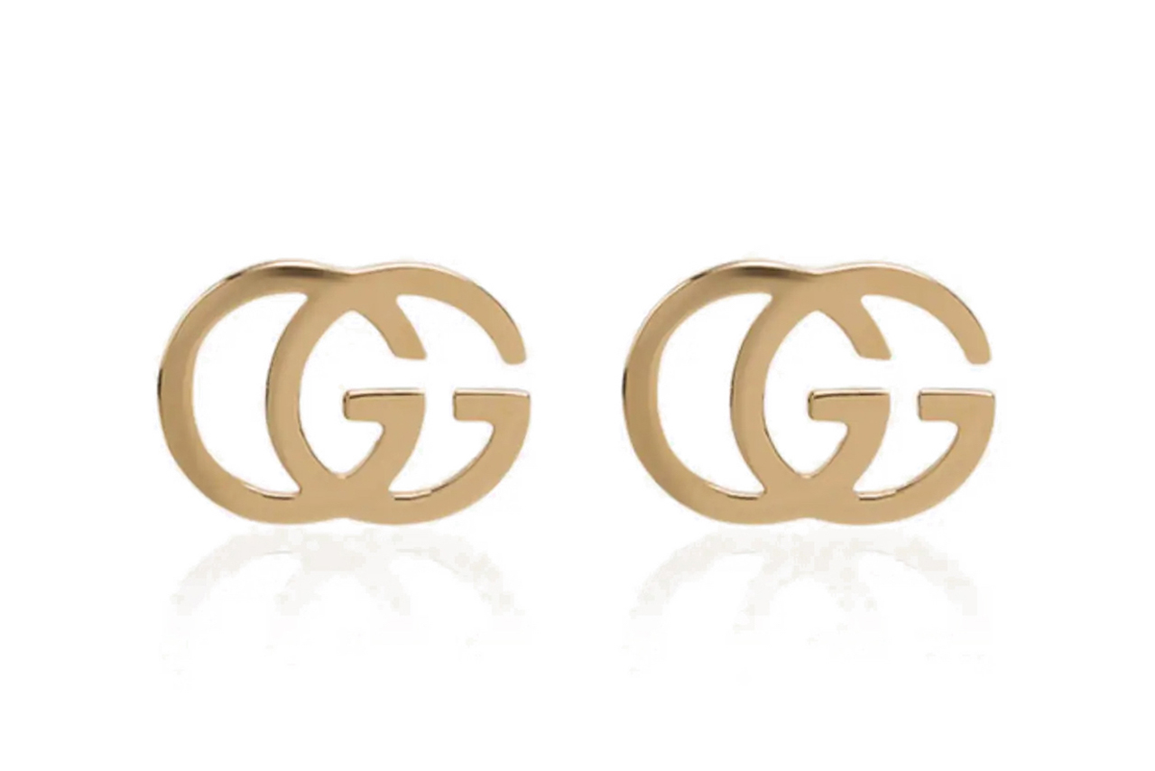 Gucci 18K Yellow Gold GG Running Earrings