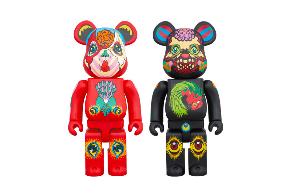 Medicom Toy BEARBRICK Keiichi Tanaami 100 400 toy maker psychedelic trippy red black 70s third eye August 24 figures pieces zozotown
