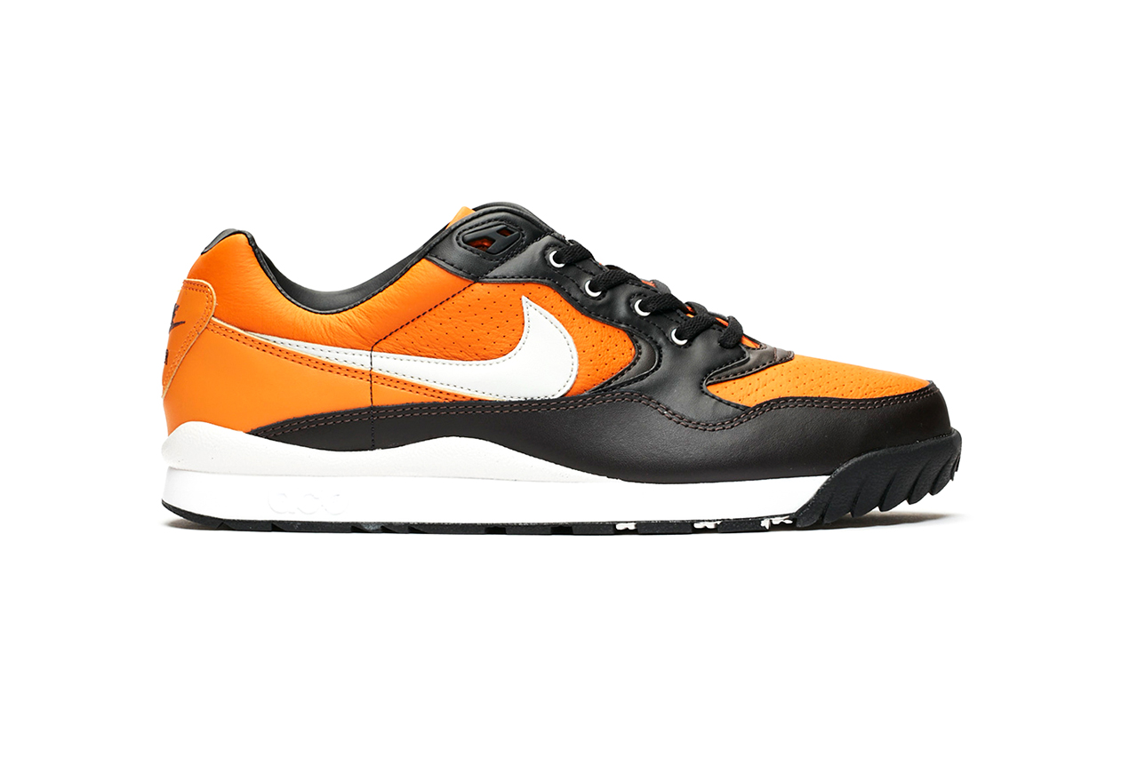 "Nike ACG Air Wildwood ""Monarch/Vast Grey"" Sneaker Release Official Images Information Drop Date Retro Technical Footwear Triangle Logo Swoosh Perforated Detailing Premium Leather"