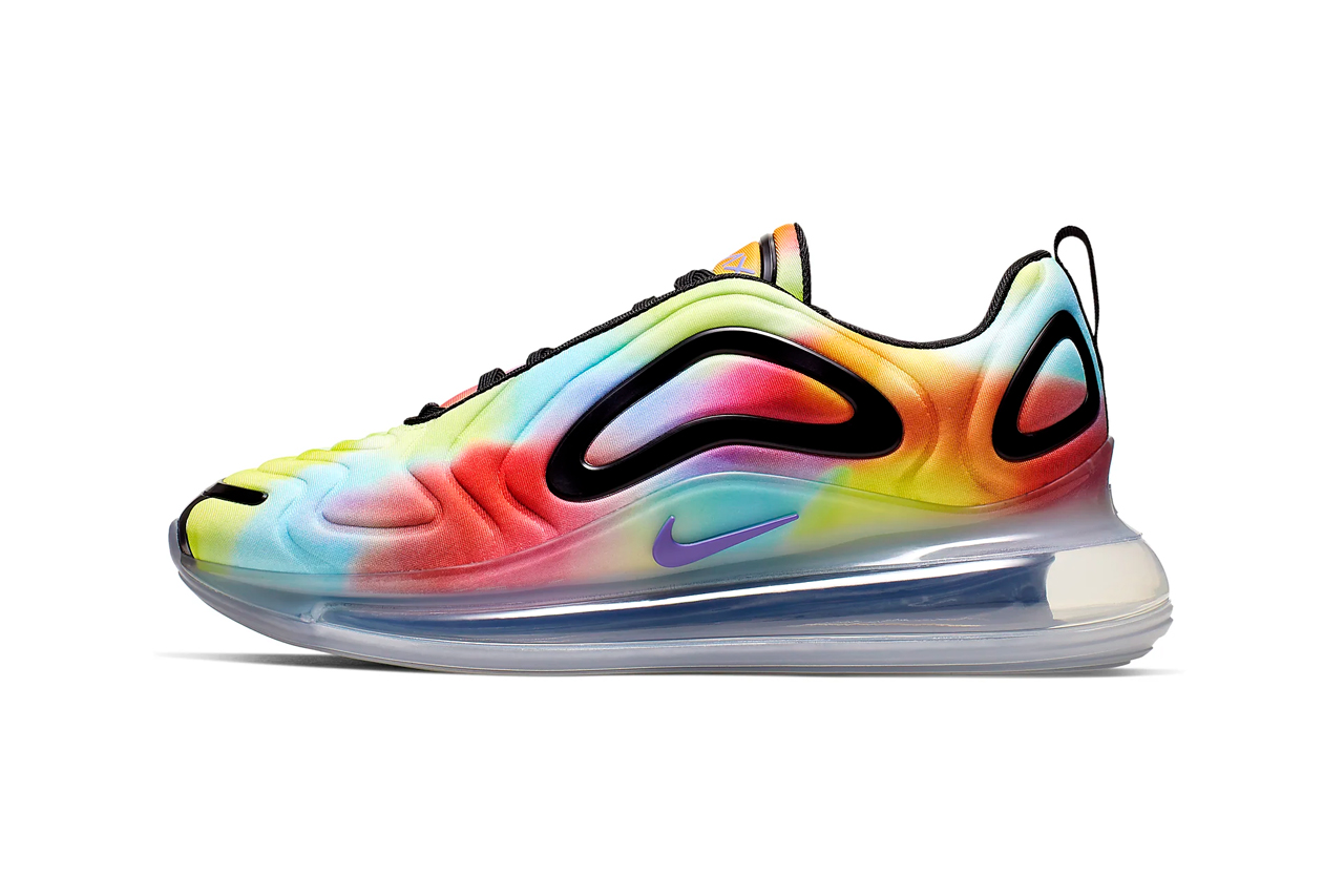 nike air max 720 tiedye tie dye multicolor metallic silver psychic purple colorway release date
