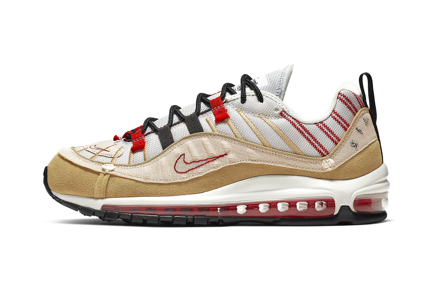 Nike Air Max 98 SE Inside-Out Desert Sand University Red Release ao9380-003 trainers kicks shoes sneakers nike air footwear