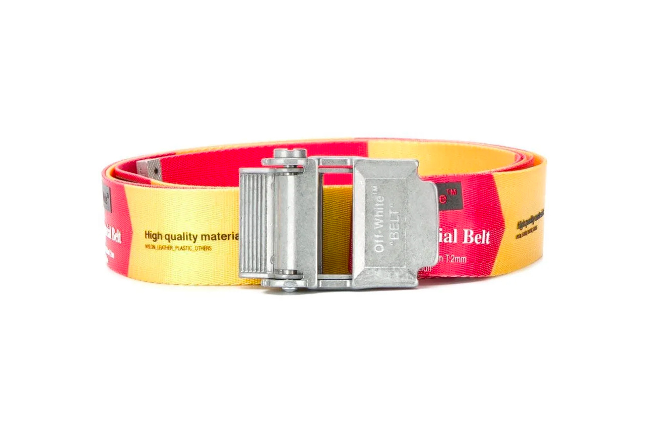 Off-White™ Releases New Red & Yellow Industrial Belts virgil abloh accessories the webster release info drop date price stockist where to buy
