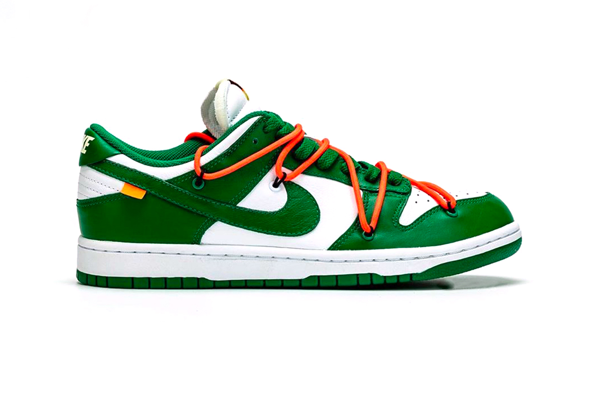Off White Nike Dunk Low Pine Green Detailed Look Virgil Abloh Release info Date White 2019 images