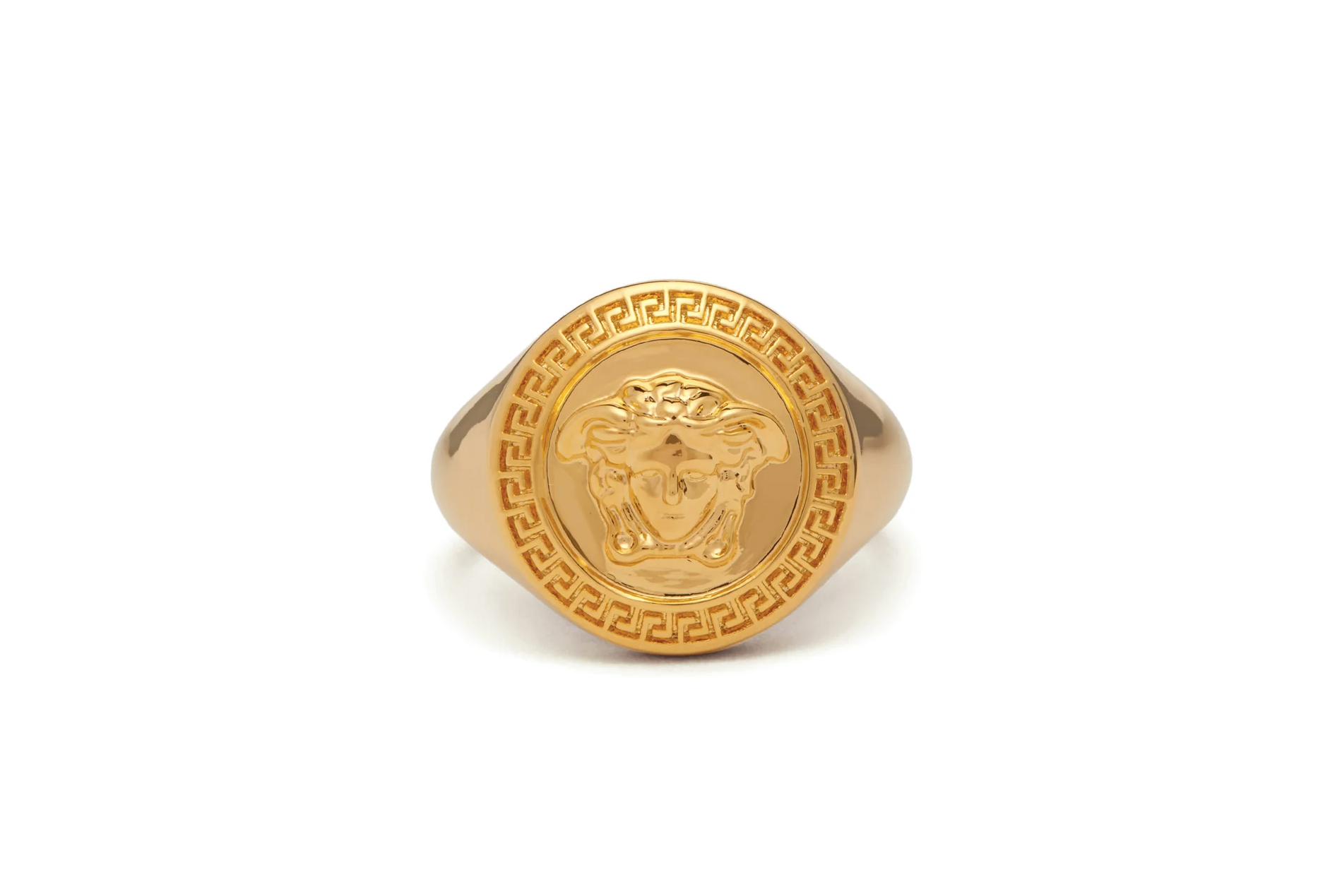 Versace Medusa Medallion Ring Release Info Buy Purchase Gold Accessories