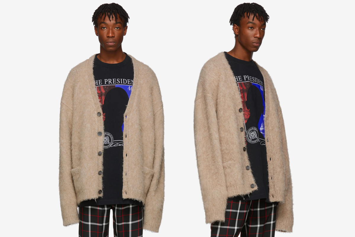 Vetements Five Button Cardigan