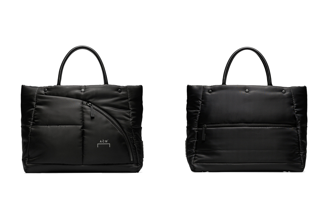 A-COLD-WALL* Black Logo Padded Tote Bag