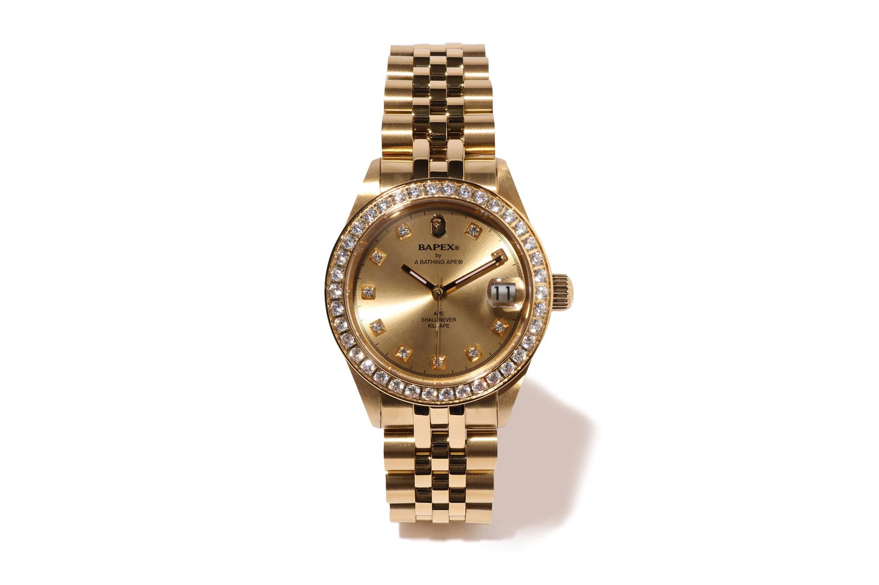 "BAPE Type 1 BAPEX ""Gold"" Limited Edition Release a bathing ape timepieces ice diamonds watches ape head accessories"
