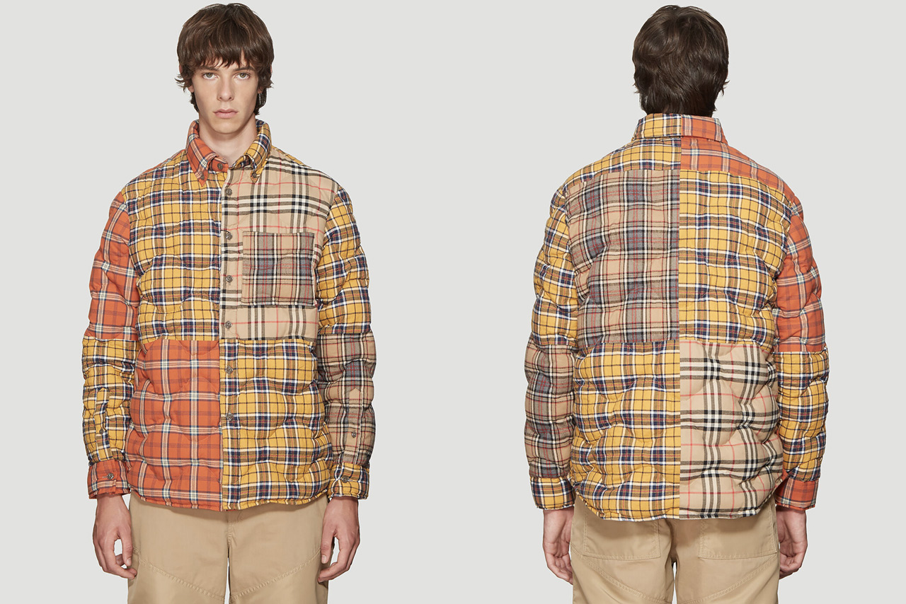 Burberry Multi Check Quilted Overshirt