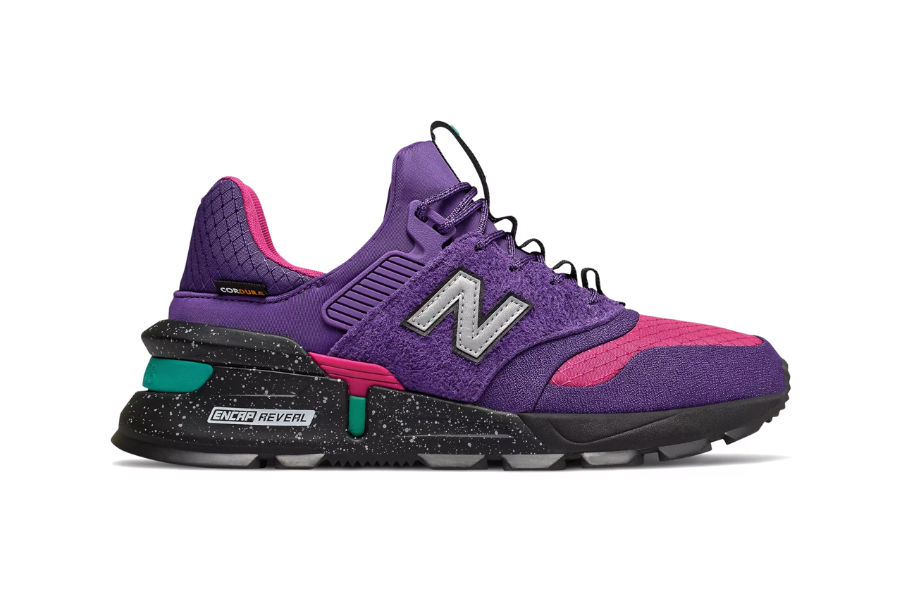 new balance 997 sport cordura rugged design upper prism purple with carnival stonewear with verdite steel with techtonic blue