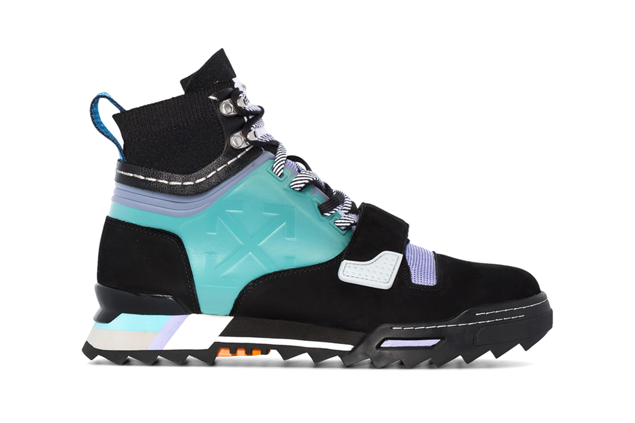 Black and Blue Hiking LeatherSneakers