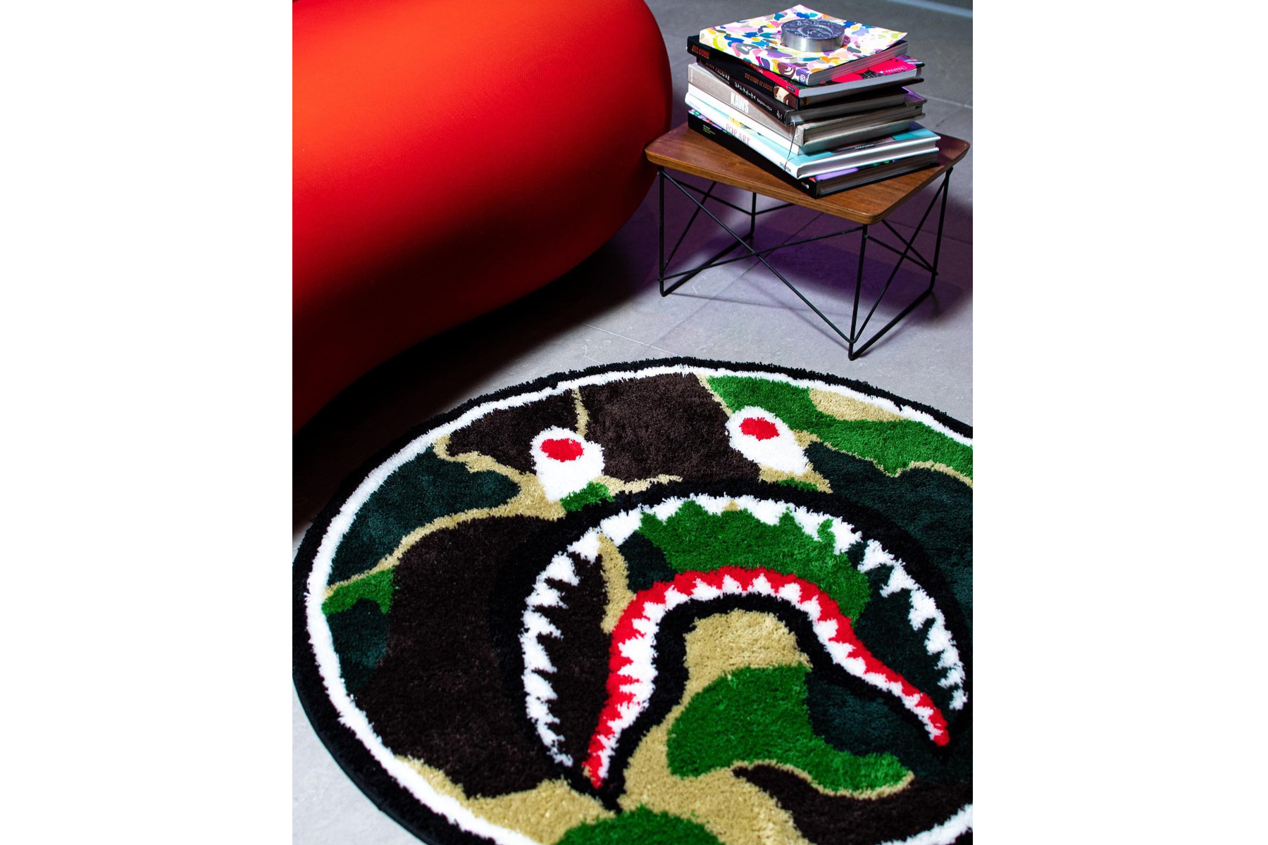BAPE ABC CAMO Shark Rug & Paper Weight Release a bathing ape green shark hoodie home accessories home decor