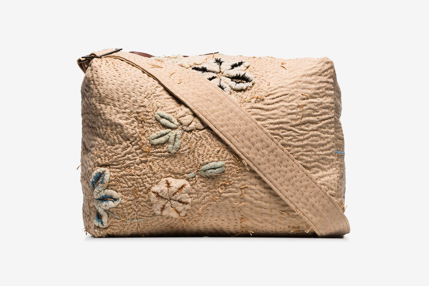 By Walid Beige Tapestry Messenger Bag Release  browns browns fashion bags Sashiko boro