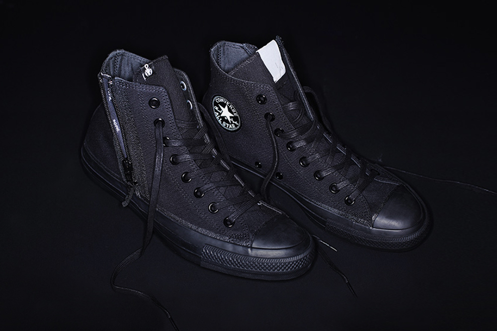 SOPHNET N HOOLYWOOD Converse Japan All Star 100 Hi top sneaker footwear shoes zipper co branding tokyo japan triple black collaborations