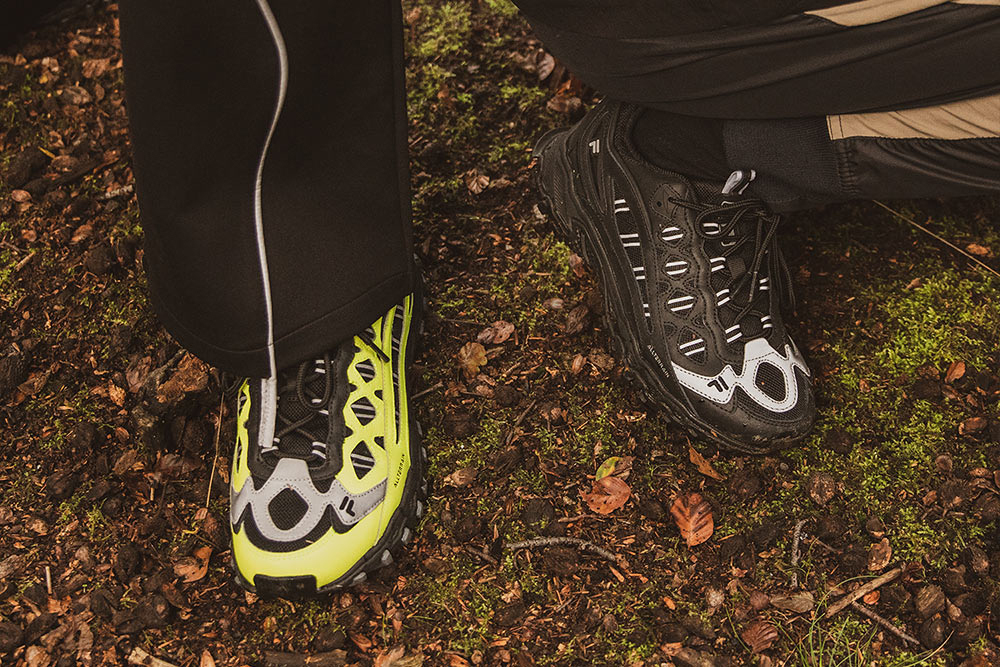 footpatrol fila boveasorous 98 at sp black yellow hiking chunky shoes