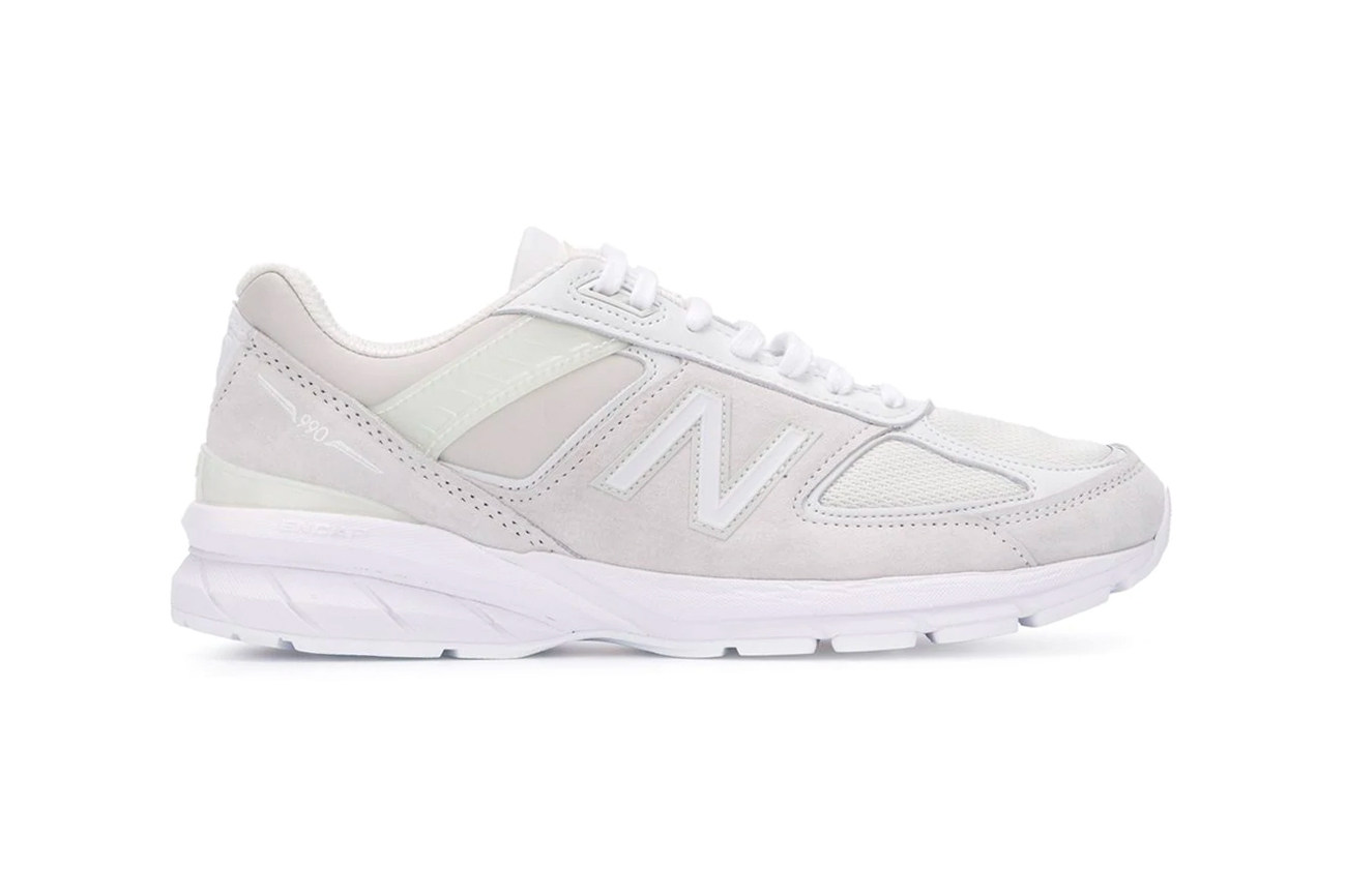 Junya Watanabe MAN Comme des garcons New Balance 990 white calf leather pigskin suede sneakers footwear shoes silhouette runners trainers