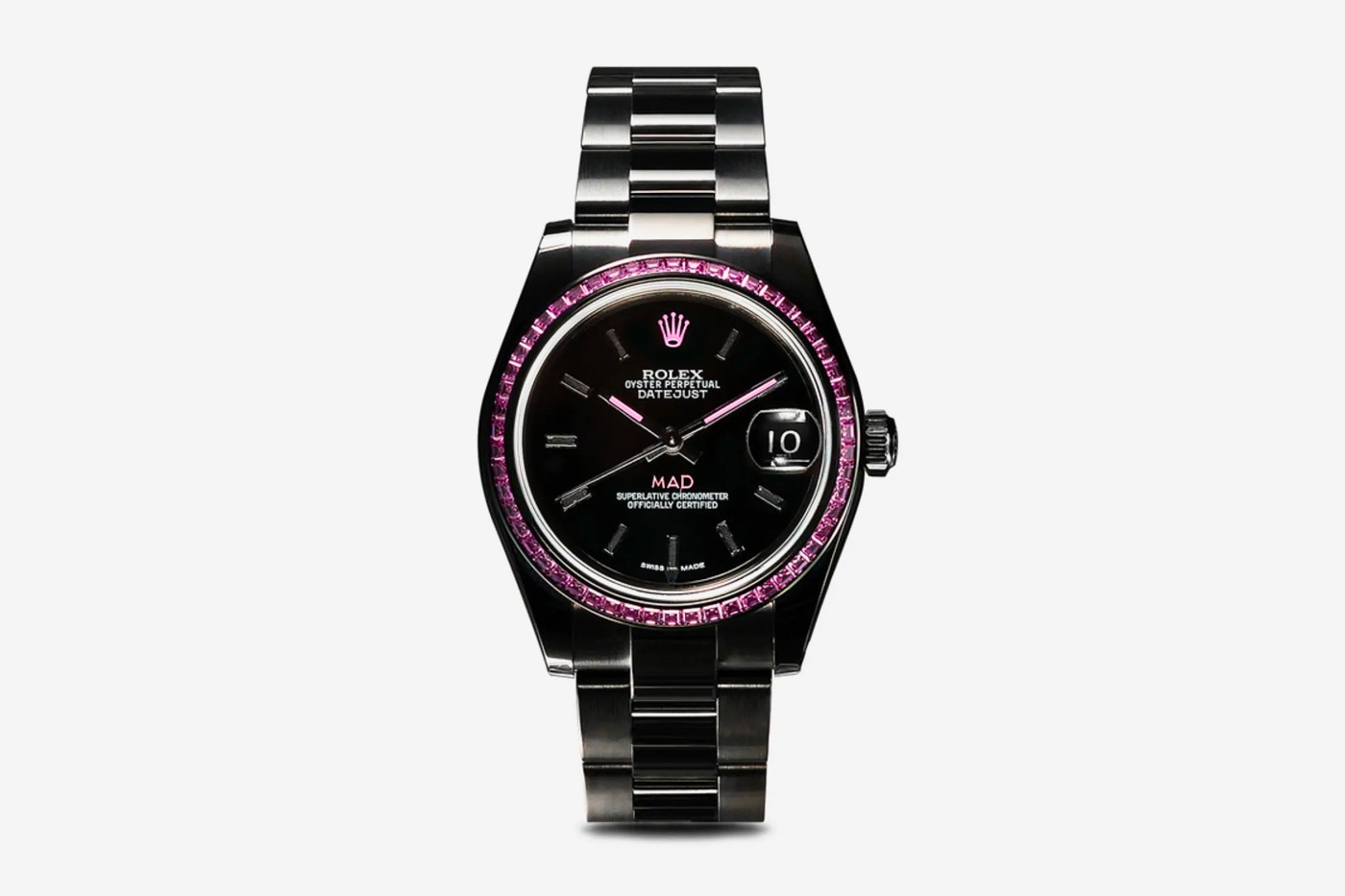 MAD Paris Black Pink Sapphire Rolex Datejust 31 Watch Release info Buy