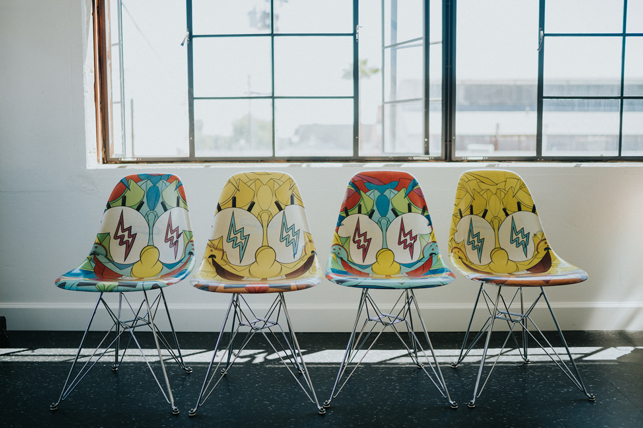 'Spongebob Squarepants' x J Balvin x Louis De Guzman x Modernica Collection Furniture First Look Release Information Daybed Upholstered Fiberglass Chairs Fiberglass Chairs