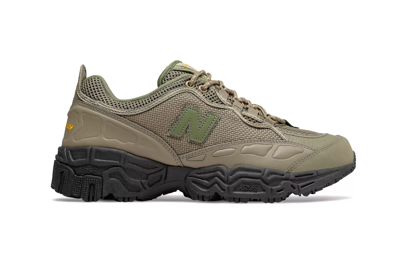 New Balance 801 Covert Green Black C CAP cushion midsole 90s trail inspired leather eva footwear sneakers shoes hiking runner trainers