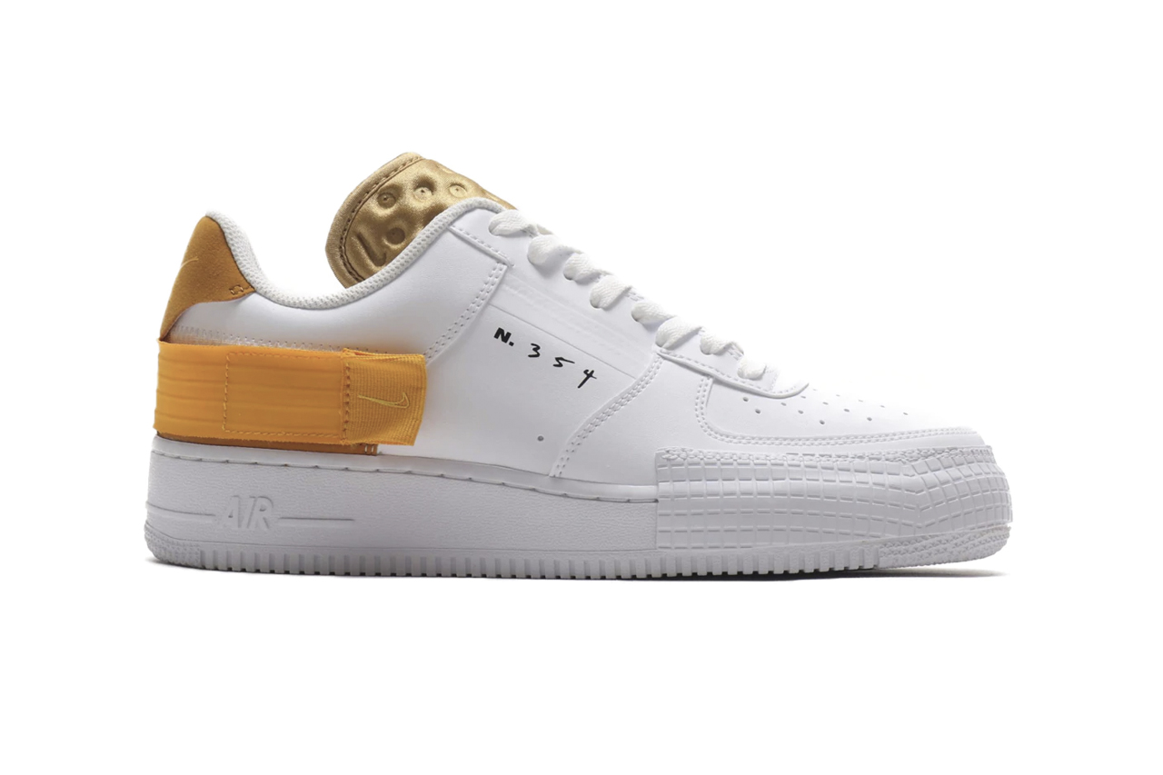nike air force 1 white gold