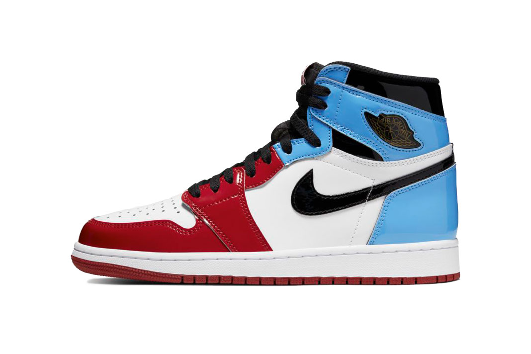 "Nike Air Jordan 1 High ""Fearless"" Release Date info buy colorway patent leather michael basketball hall fame inaugeration speech gym red university blue black white november 2 2019 160 retail price CK5666-100"