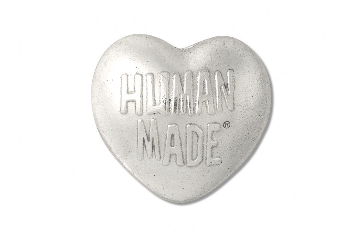 HUMAN MADE Heart Paper Weight Release Info Buy Silver Nigo