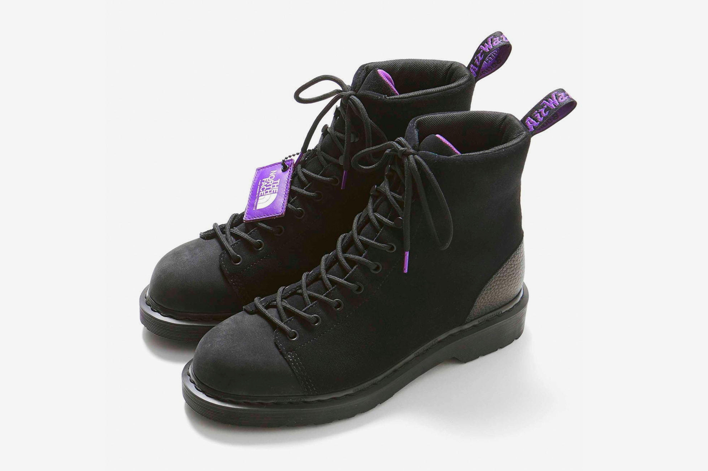 THE NORTH FACE PURPLE LABEL Dr Martens 9 Tie Boots footwear shoes outdoor heritage leather japanese hiking crafted high top wellington airwair heel tab