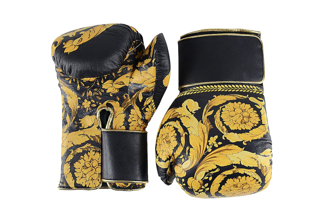 Versace Drops $3,126 USD Leather Boxing Gloves accessories donatella versace BAROCCO 100 lamb leather Versace Barocco Leather Boxing Gloves