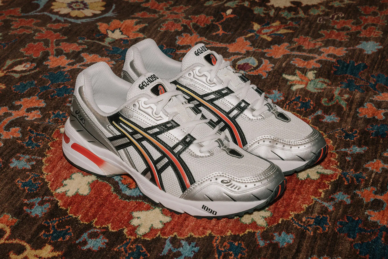 asics gel 1090 silver steel grey red orange 1021A285 100 release date info photos price colorway