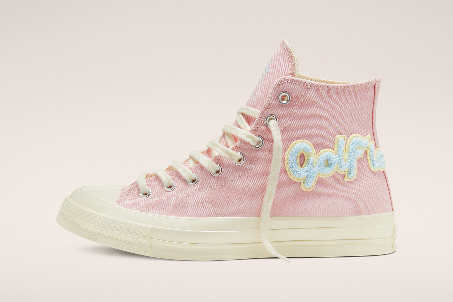 GOLF le FLEUR* Converse GLF Gianno Ox Chenille Chuck 70 Release Info Date camp flog gnaw Pink Blue Patch