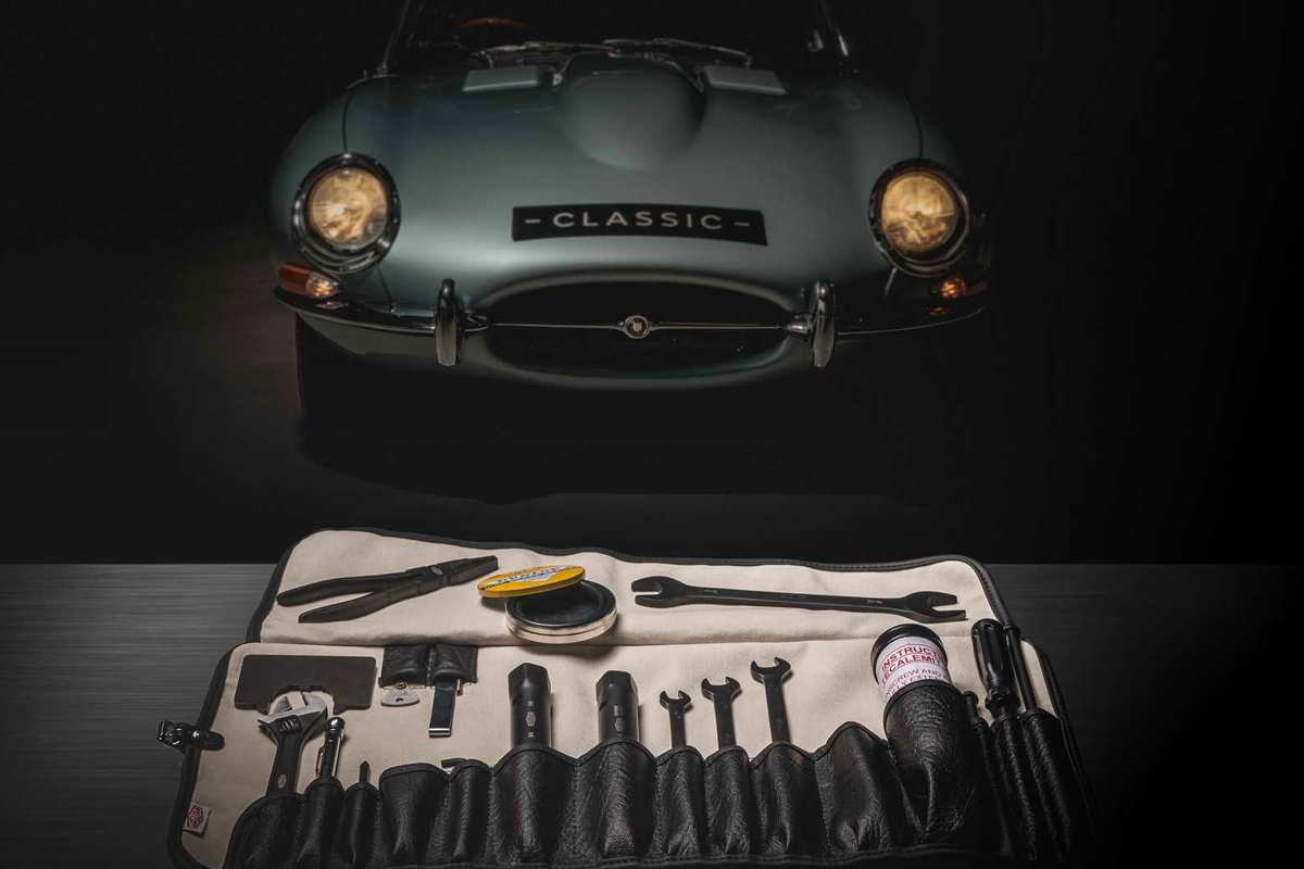 Jaguar Original E-Type Series 1 & 2 Toolkit cars automotive classic cars tools mechanics mechanical British