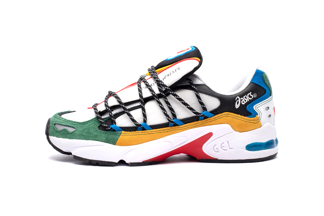 "ASICS SportStyle GEL-KAYANO 5 OG ""White/Multi"" Release Information Sneaker Release Information Drop Date 2020 Hiking Technical Multicolored Suede"
