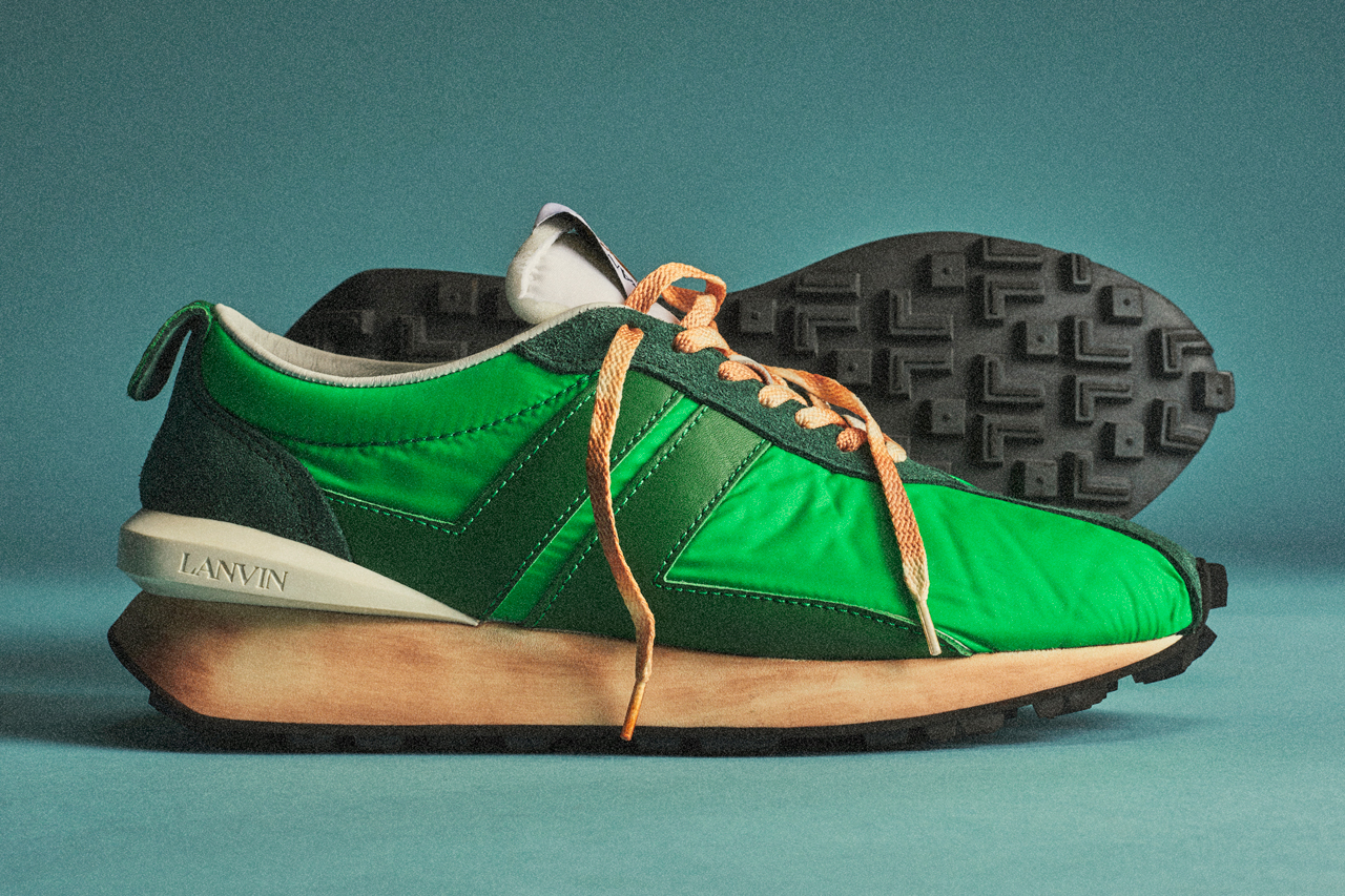 lanvin bumper sneaker aged 1970s green release date info photos price colorways spring summer 2020 menswear shoes Bruno Sialelli luxury
