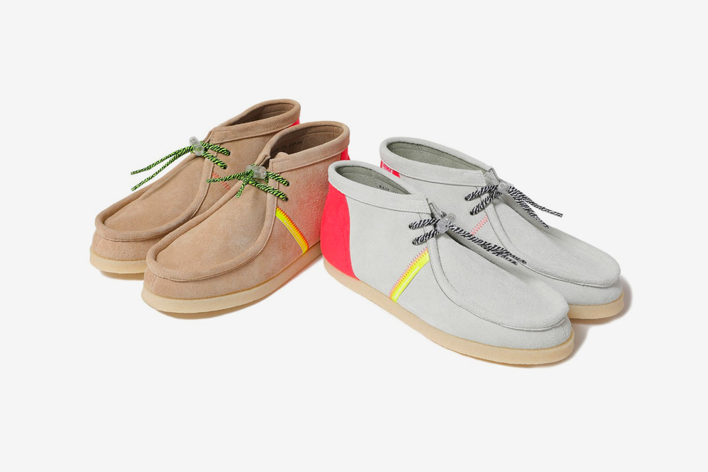 MAGIC STICK DOUBLE FOOT WEAR Chukkas leather shoes footwear trainers sneakers boots kicks trainers runners fluorescent japanese sartorial bespoke mid cut moccasin beige grey